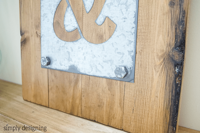 DIY Industrial Ampersand Decor close up