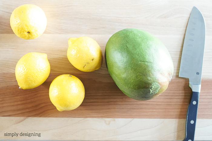 Frozen Mango Lemonade Recipe ingredients