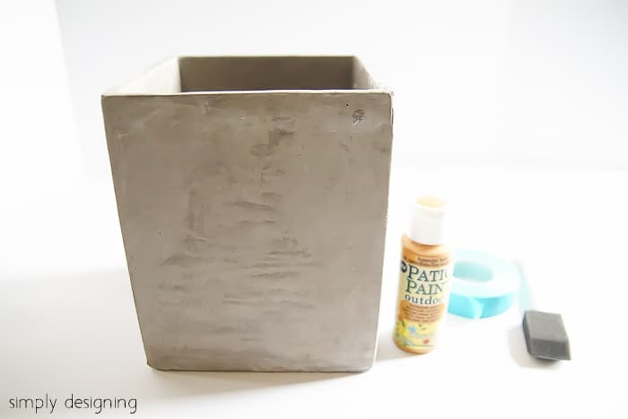Gold Colorblocked Cement Planter supplies