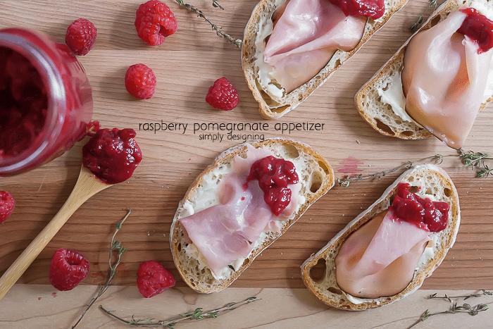 Raspberry Pomegranate Appetizer
