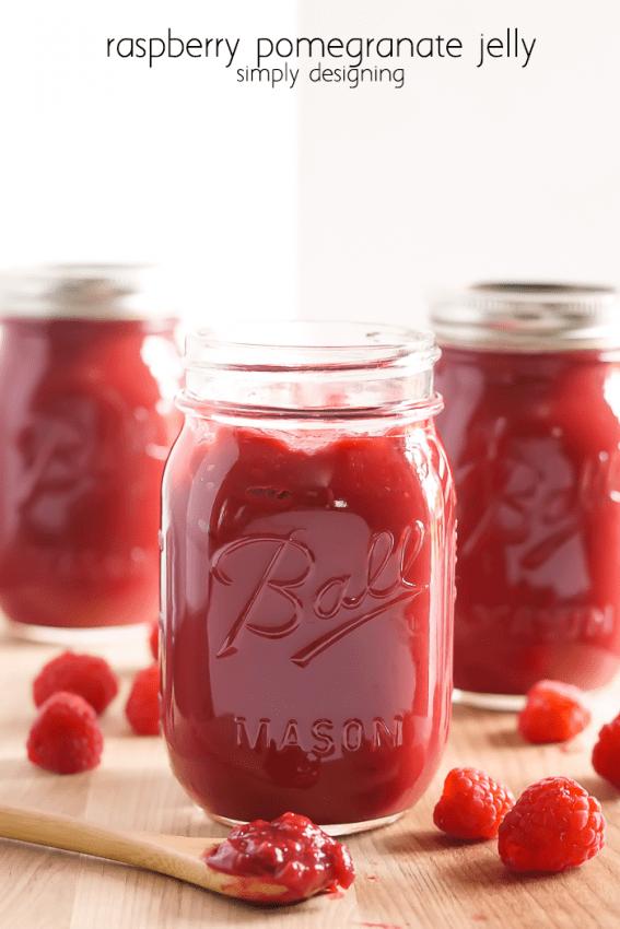 Raspberry Pomegranate Jam