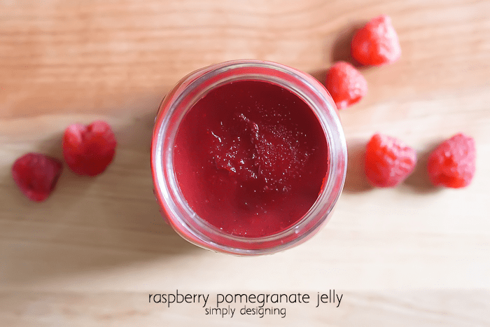 Raspberry Pomegranate Jelly - simple and delish