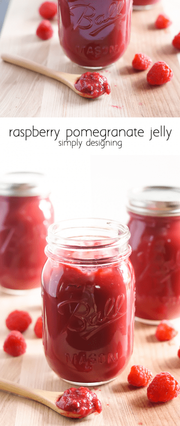 Raspberry Pomegranate Jelly - this recipe is so easy to make and tastes amazing - pinning for later