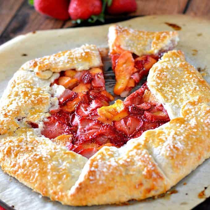 Strawberry-Peach-Tart
