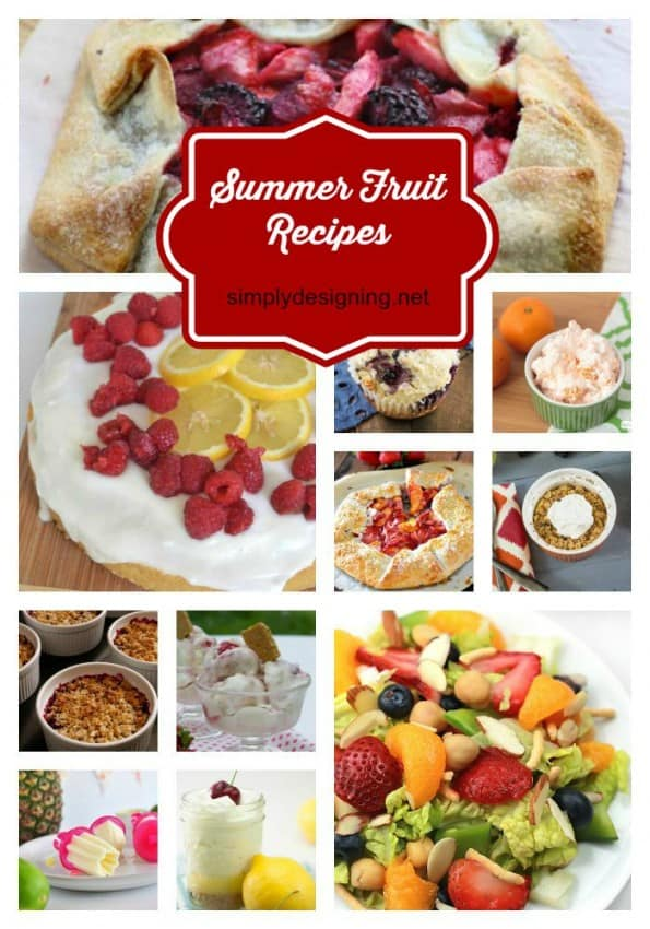 Summer Fruit Recipes Pinnable