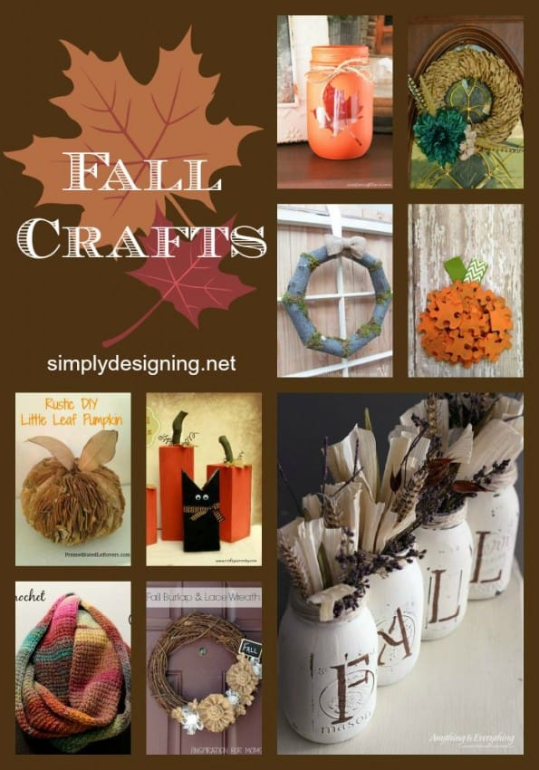 DIY Fall Decorations - simple fall crafts and decorations that you can easily do yourself