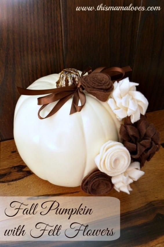 Fall-Pumpkin-with-Felt-Flowers