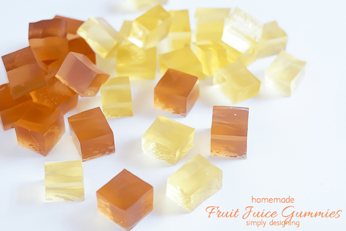 Homemade Fruit Juice Gummies - fun for kids to help make and tasty