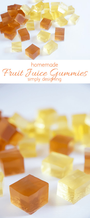 Homemade Fruit Juice Gummies - simple to make and such a fun treat