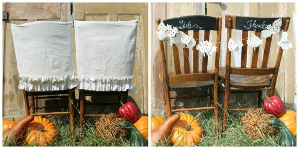 Chairs decorated for Fall