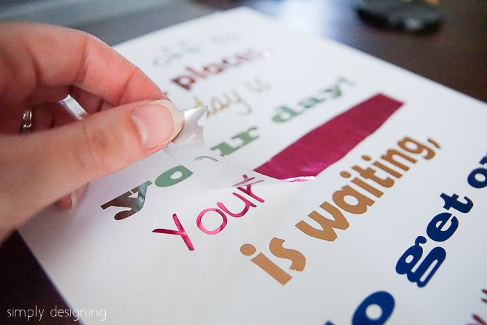 How to Foil a Printable - Back to School Printable