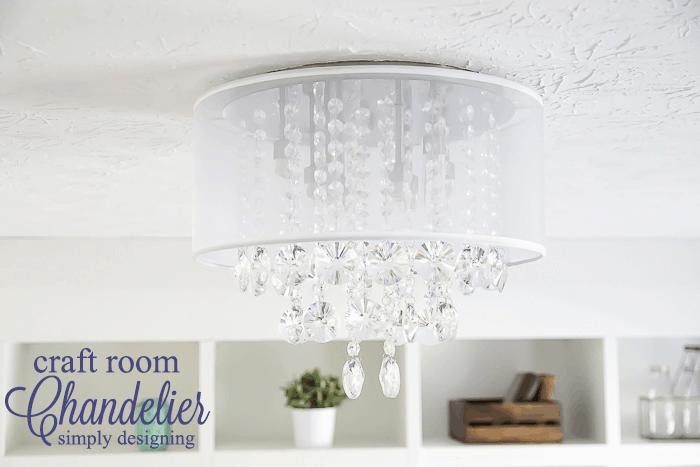 Craft Room Chandelier -an elegant new light fixture