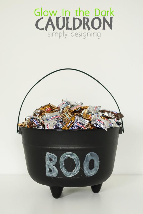 Glow in the Dark Cauldron - a simple and fun Halloween craft