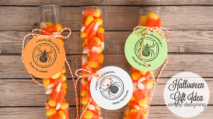 Halloween Candy Corn Treat and Customized Tags