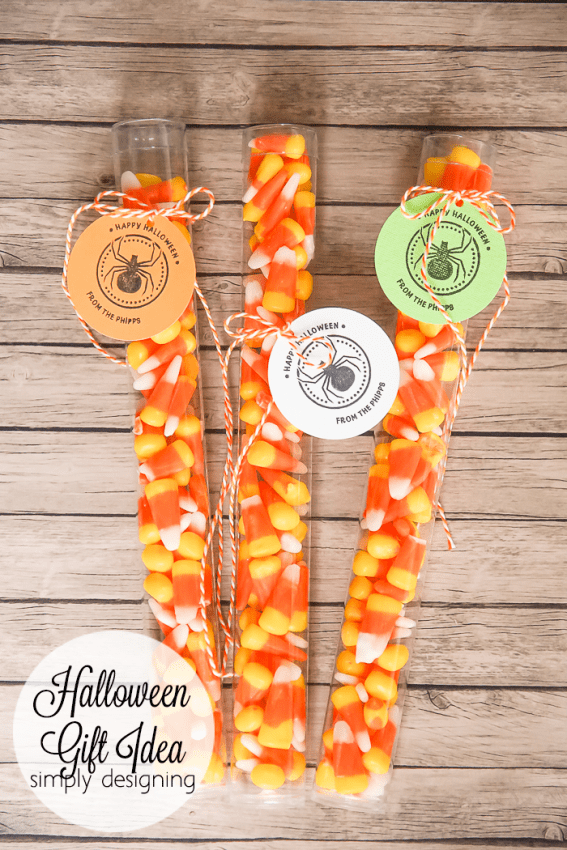 Halloween Candy Corn Treat with Customized Tags