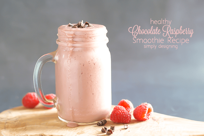Healthy Chocolate Raspberry Smoothie Recipe - this tastes so good you won't believe that it is healthy for you