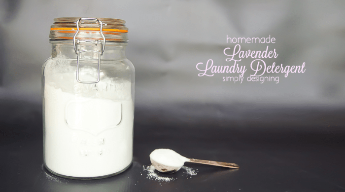 Lavender Scented Homemade Laundry Detergent - I love that it is eco-friendly and contains no chemicals