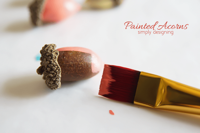 Painted Acorn Decor - paint the acorns