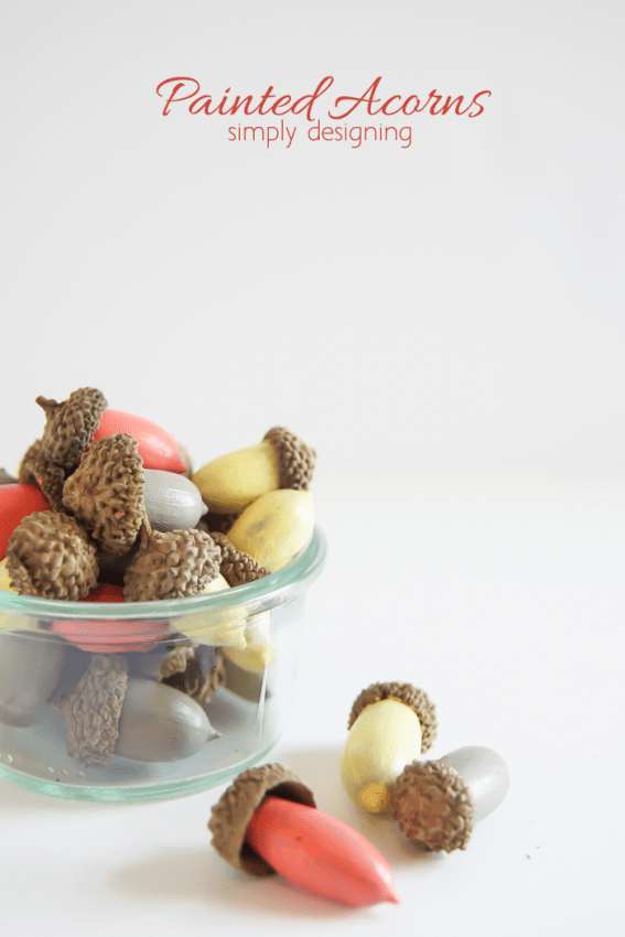 Painted Acorn Decor - such a simple way to add a modern touch to natural decor