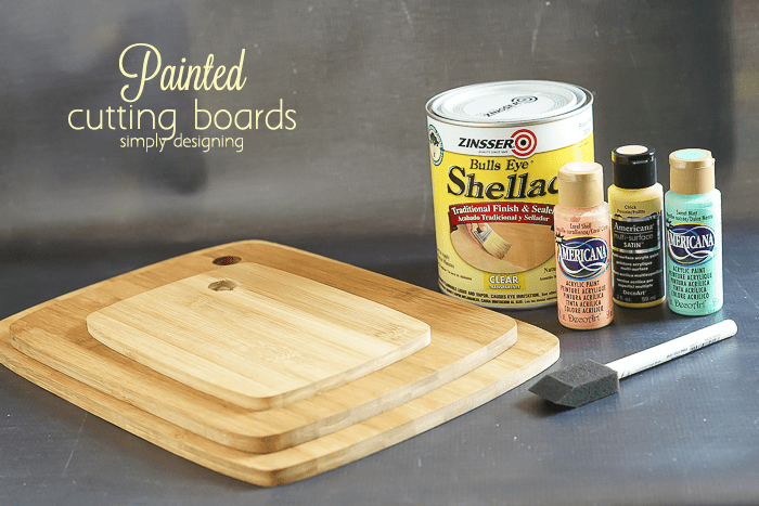 Painted Cutting Boards - supplies