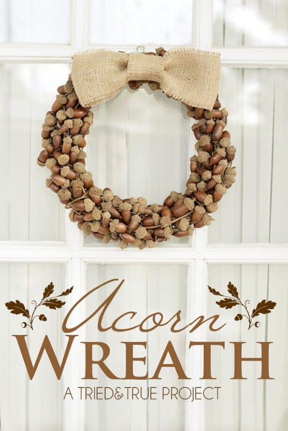 acorn wreath tried and true
