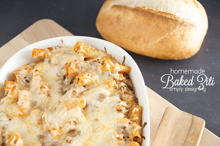 homemade ziti recipe