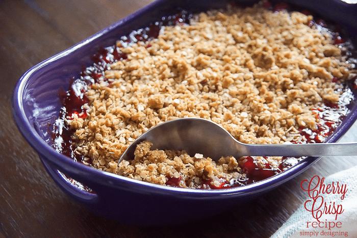 Cherry Crisp Recipe