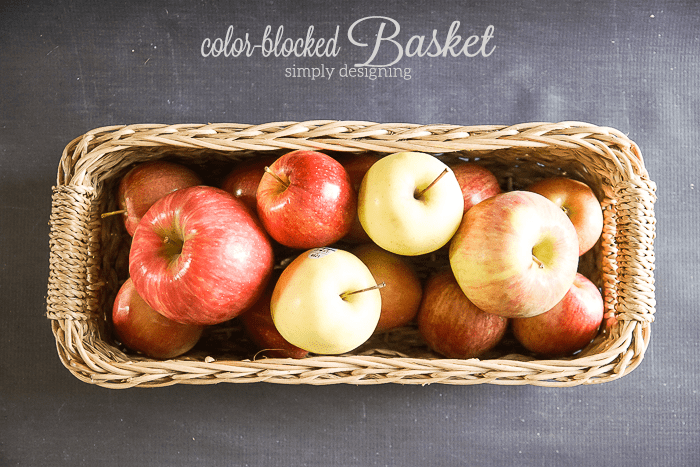 Color Blocked Basket for fruit
