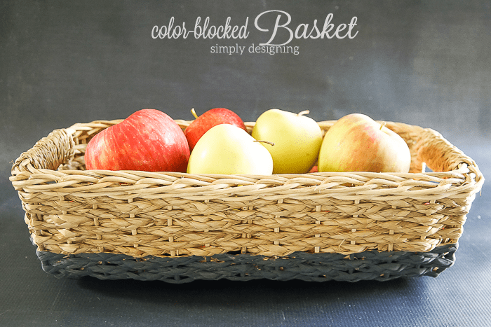 DIY Color Blocked Basket