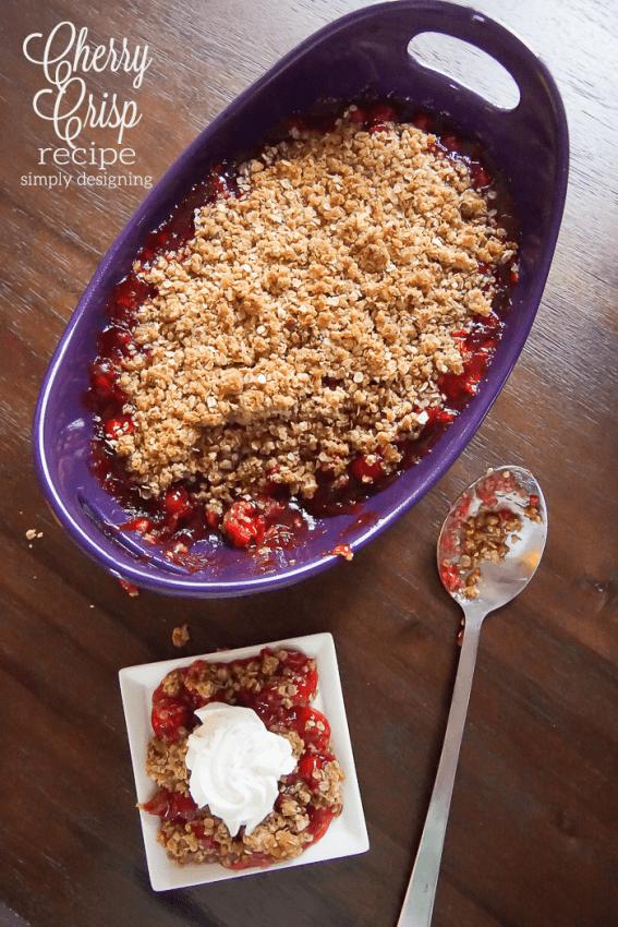 Delicious Cherry Crisp Recipe