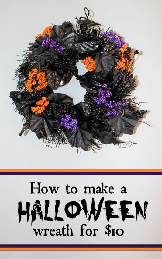How-to-make-a-purple-and-orange-halloween-wreath-for-under-10-