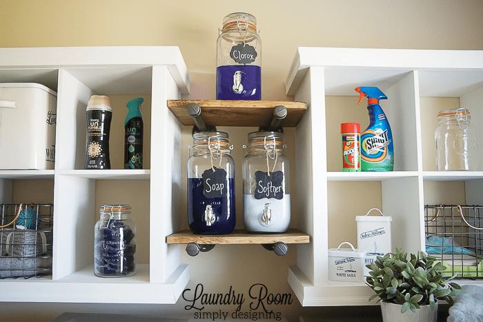 Laundry Room Make Over - Industrial Shelves