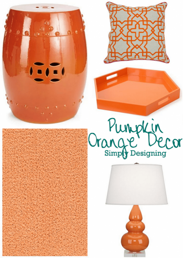 Pumpkin Orange Decor