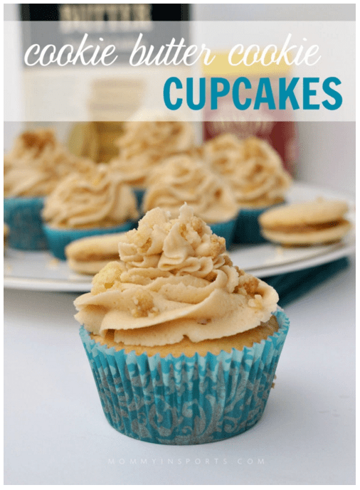 cookie butter cookie cupcakes