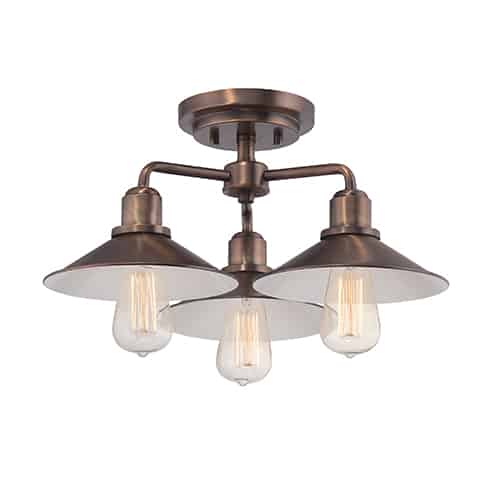 industrial semi flush light
