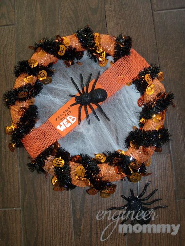 spooky spider halloween wreath 008 Halloween Wreath Ideas 1 halloween wreath