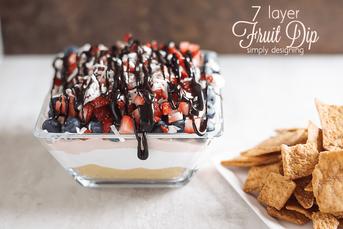 7 Layer Fruit Dip - such a yummy and delicious alternative to a traditional fruit dip