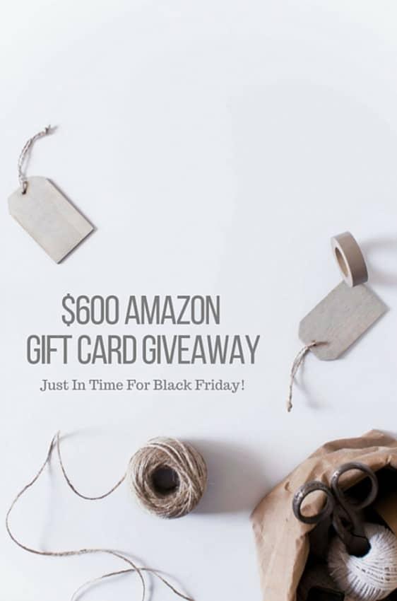$600 Amazon Gift Card Giveaway
