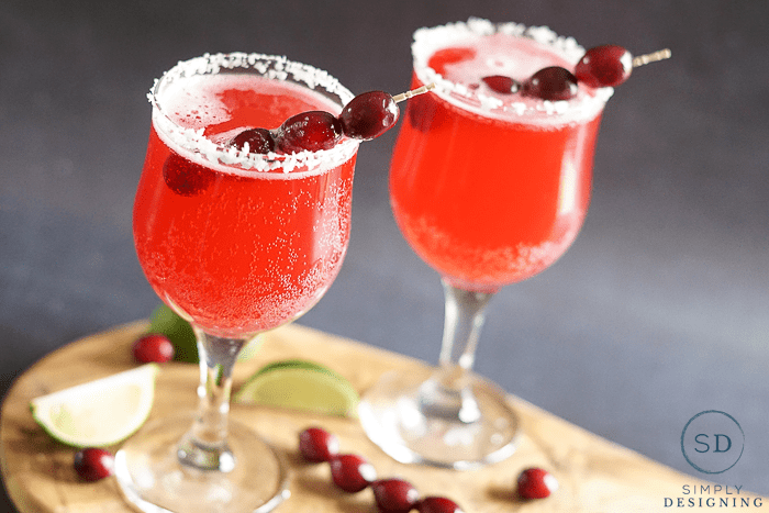 Cranberry Lime Mocktail - perfect holiday drink