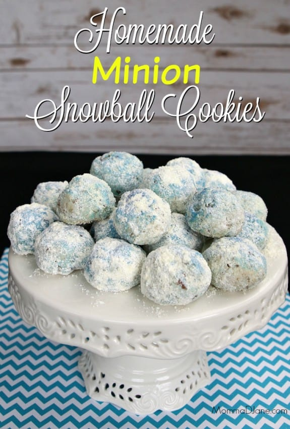 Homemade-Minion-Snowball-Cookies