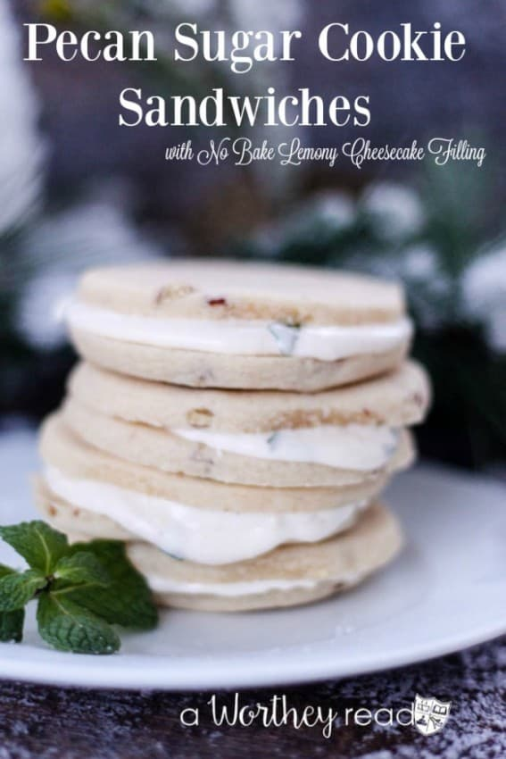 Pecan-Sugar-Cookie-Sandwiches-with-No-Bake-Lemony-Cheesecake-Filling