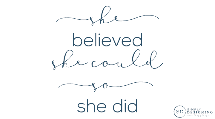 She Believed She Could So She Did free printable