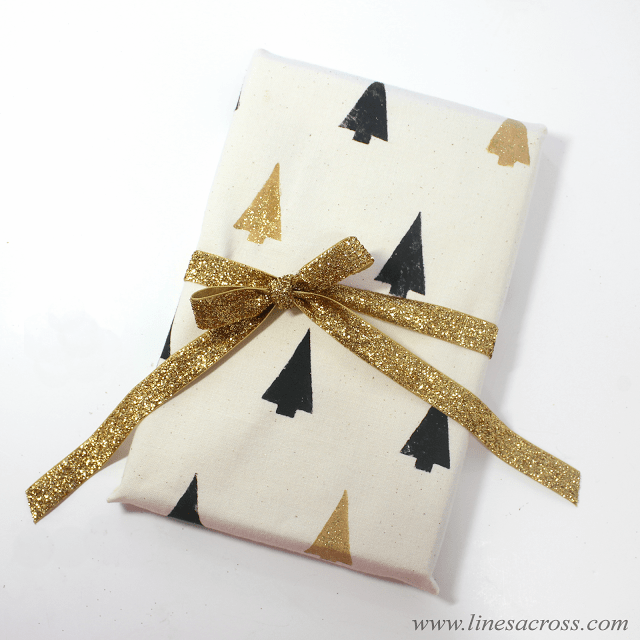 Stamped Fabric Wrapping Paper 3
