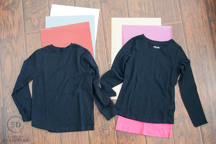 DIY Valentines Day Shirts - supplies