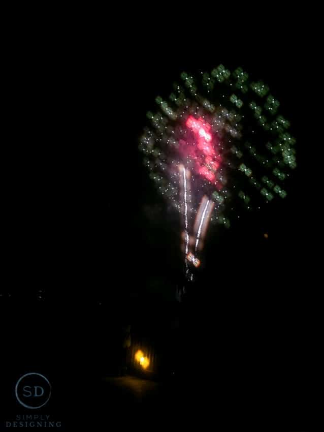 Legoland Hotel - fireworks look like lego bricks with special 3D glasses