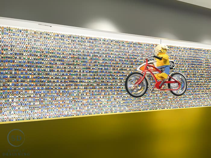 Minifigure Wall in the Legoland Hotel Florida