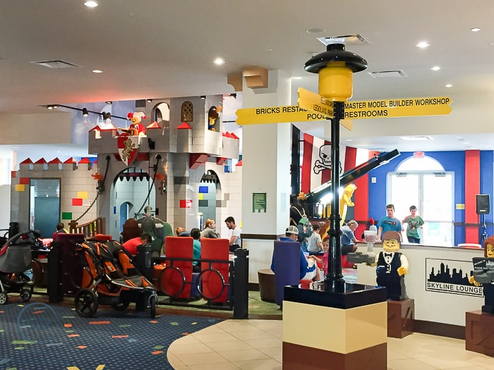 Legoland Hotel - castle play area