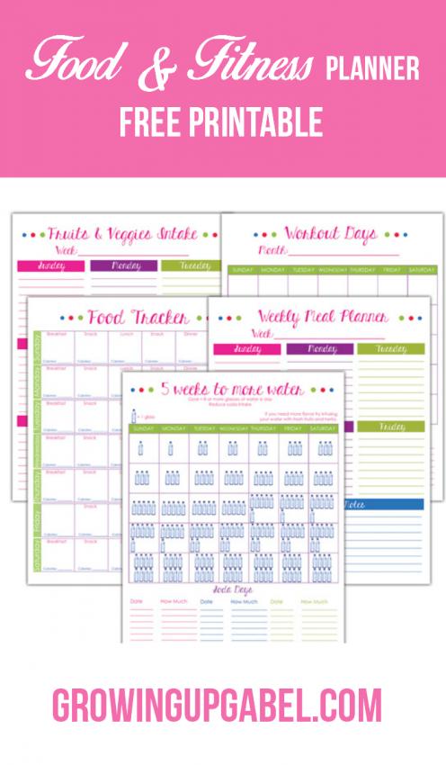 Printable-Fitness-Food-Planner