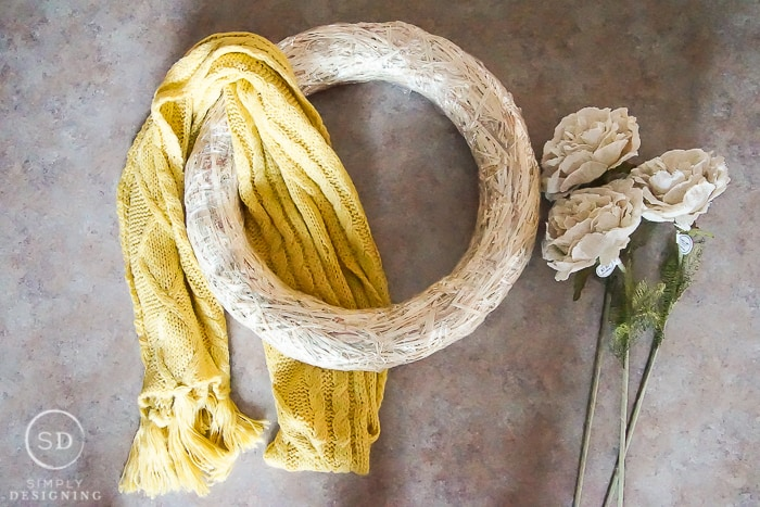 Scarf Wreath - supplies