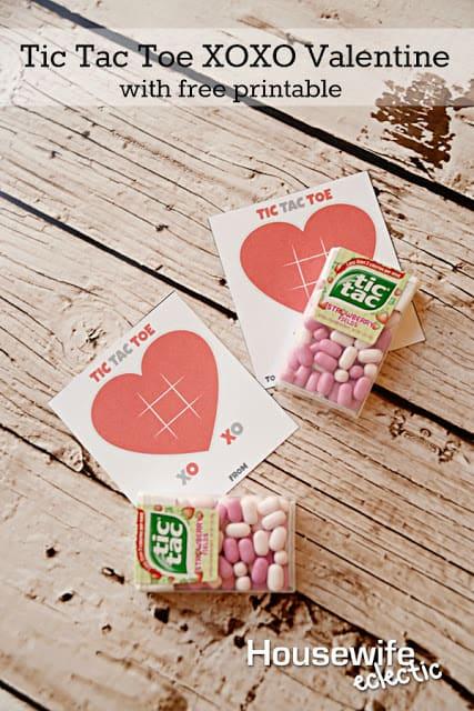 Tic Tac Toe Xo Free Printable Valentine 1